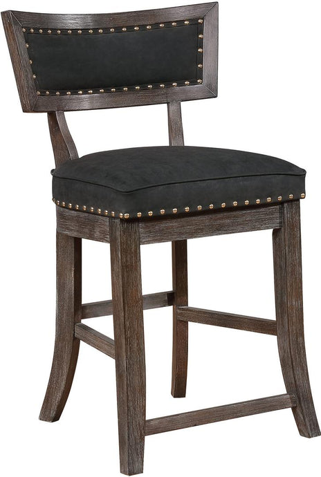 Coaster Transitional Black and Brown Counter Height Stool Set of 2