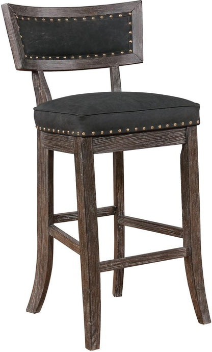 Coaster Transitional Black and Brown Bar Height Stool Set of 2