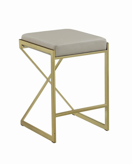 Coaster Taupe Faux Leather Upholstered Counter Height Stool