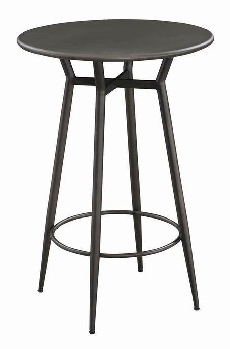 Coaster Lex Industrial Bronze Finish Round Bar Table