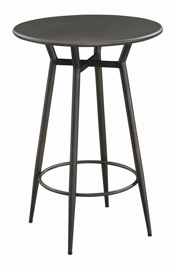 Homy Living Lex Bronze Metal Finish Round Bar Table