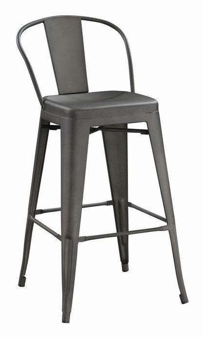 Coaster Lex Industrial Bronze Finish Round Bar Stool Set of 2