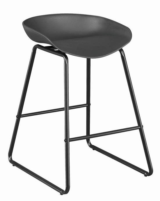 Coaster Black Finish Backless Counter Height Stool Set of 2