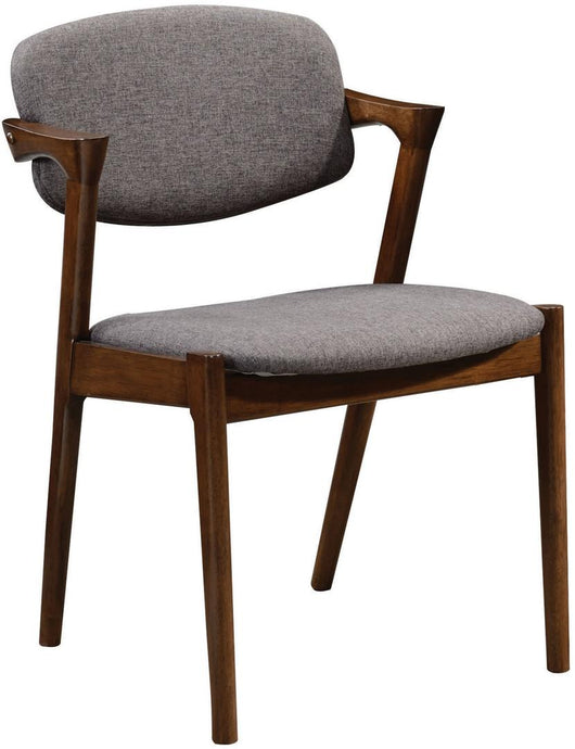Coaster Malone Contemporary Grey Upholstery Dining Chair Set of 2