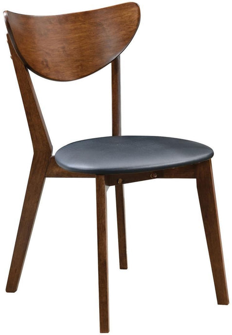 Malone Contemporary Grey Leatherette Dining Chair