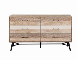Homy Living Marlow Rustic Style Rough Sawn Multi Finish Dresser