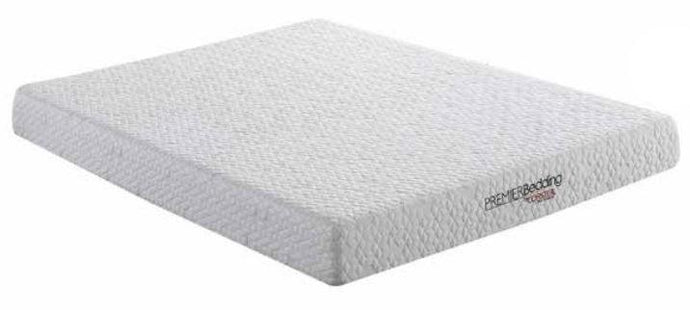 Coaster Caspian White Finish Memory Foam Top Queen Size Mattress