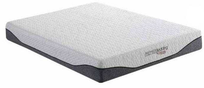Coaster Madigan White Finish Memory Foam Top Queen Size Mattress