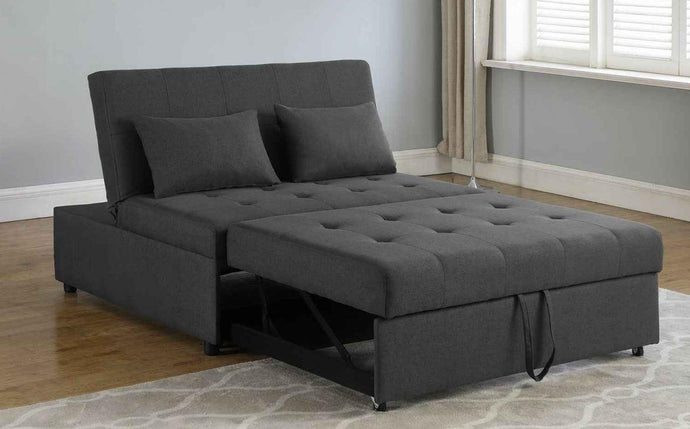 Doral Contemporary Grey Fabric Upholstery Sleeper Sofa Bed