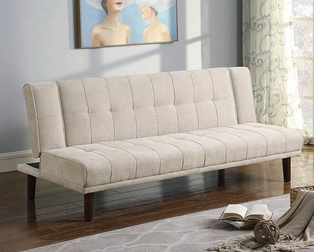 Coaster Calistoga Contemporary Beige Chenille Upholstery Sofa Bed