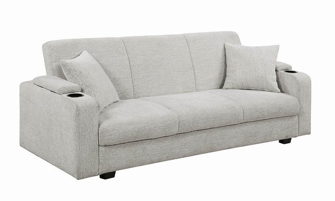 Coaster Heideck Contemporary Beige Chenille Upholstery Sofa Bed