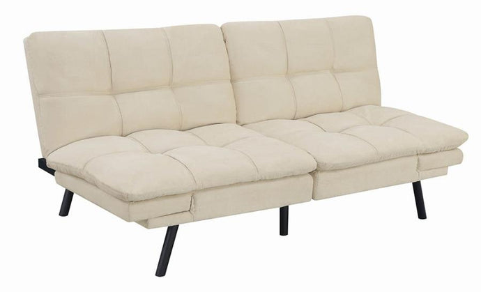 Coaster Contemporary Beige Finish Chenille Sofa Bed
