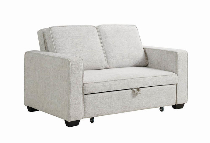 Doral Contemporary Beige Finish Sofa Bed