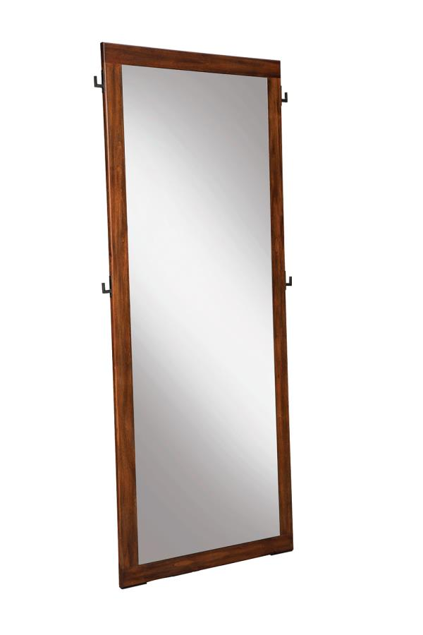 Coaster San Mateo Brown Wood Finish Floor Mirror