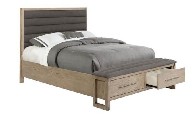 Homy Living Smithson White Oak Wood Finish Eastern King Bed