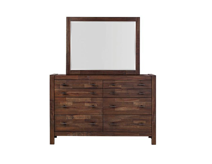 Homy Living Biloxi Mahogany Wood Finish Dresser With Mirror