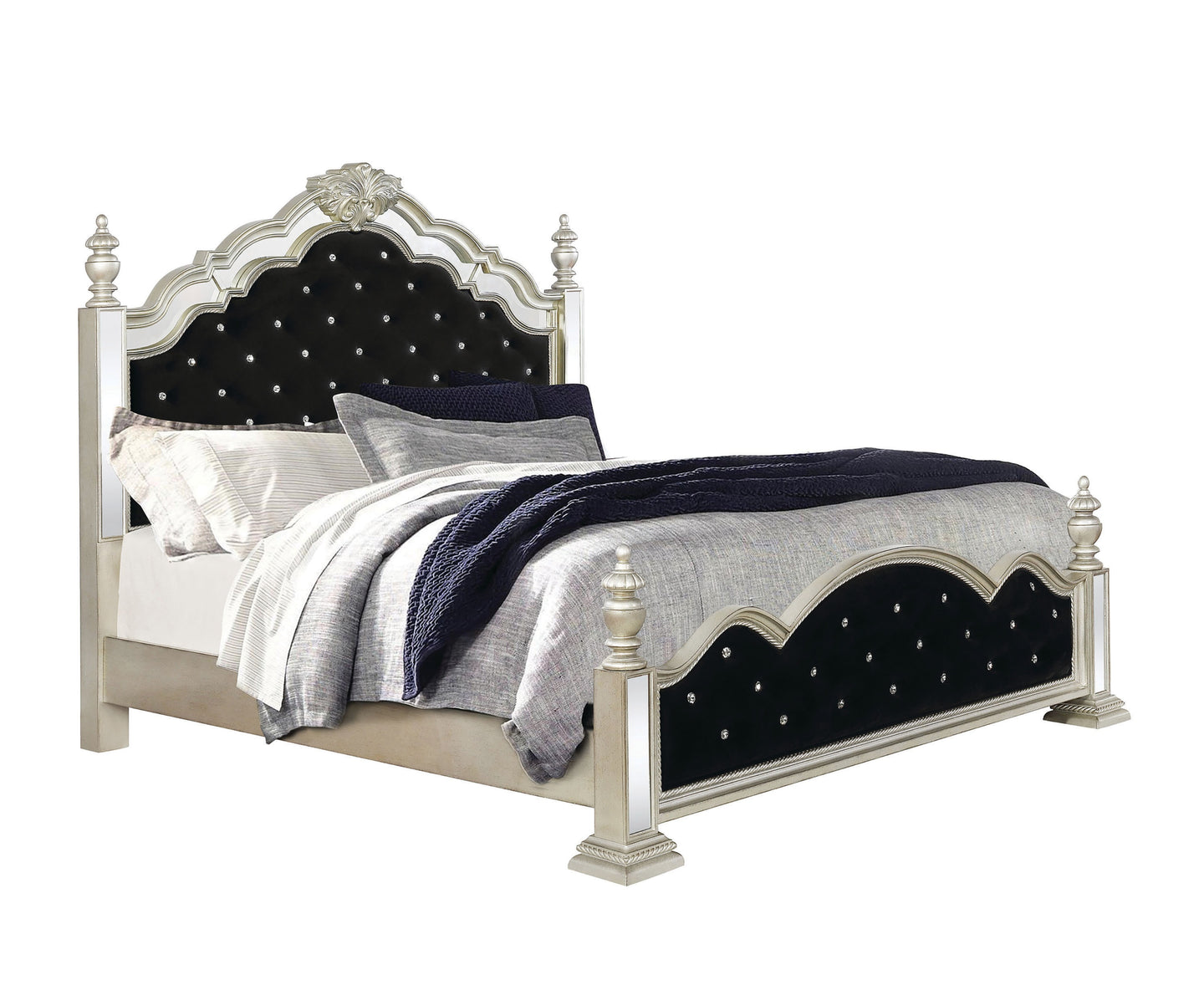 Coaster Heidi Silver Wood Finish Eastern King Bed