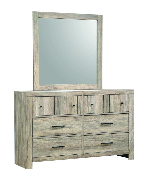 Homy Living Adelaide Oak Wood Finish Dresser With Mirror