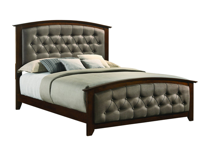 Homy Living Suamico Brown Wood Finish Queen Bed
