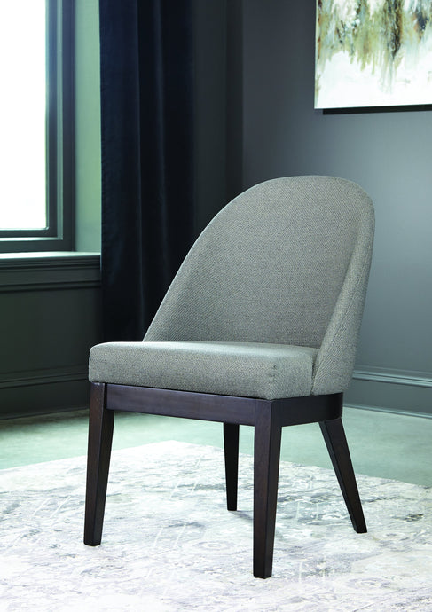 Homy Living Benton Brown And Gray Fabric Finish 2 Piece Dining Chair