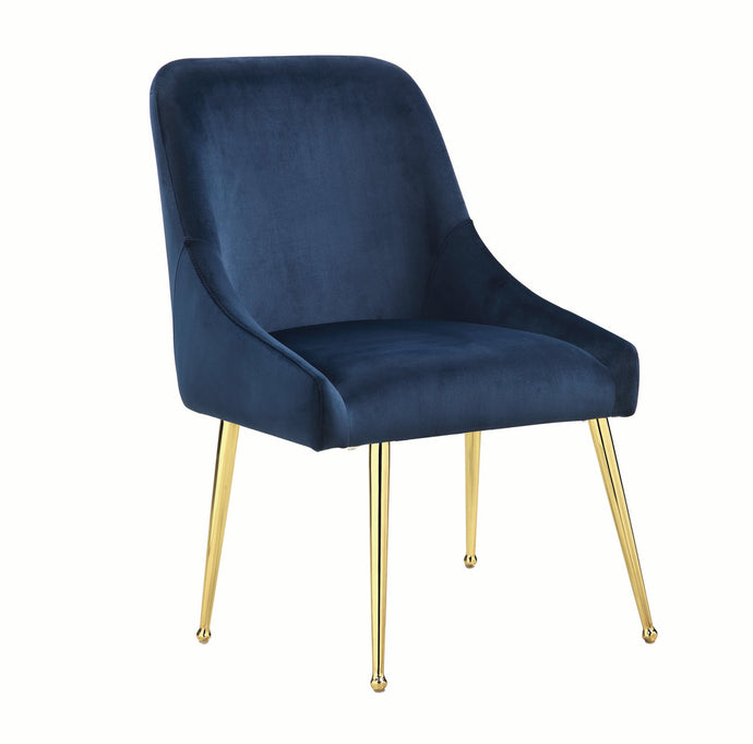 Coaster Steele Blue Metal And Fabric Finish 2 Piece Dining Chair