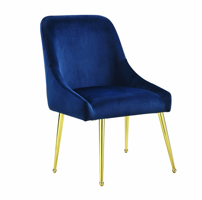 Homy Living Steele Blue Metal And Fabric Finish 2 Piece Dining Chair