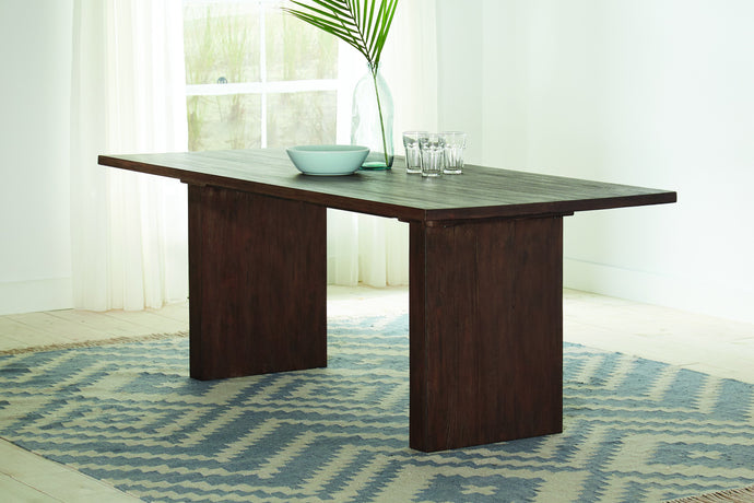 Homy Living Magnolia Mahogany Wood Finish Dining Table