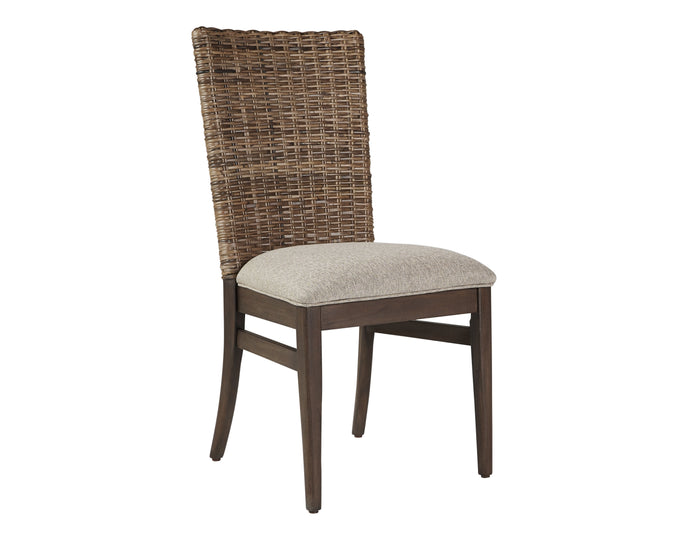 Homy Living Magnolia Mahogany Webbing And Fabric Finish 2 Piece Dining Chair