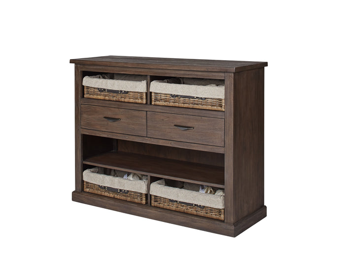 Homy Living Magnolia Mahogany Wood Finish Dining Server