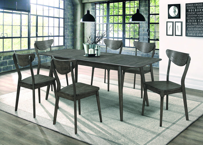 Homy Living Eureka Gray Wood Finish 7 Piece Dining Table Set