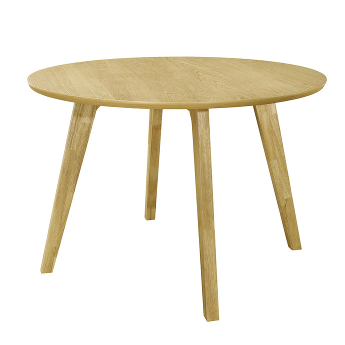 Homy Living Merced Natural Wood Finish Round Dining Table