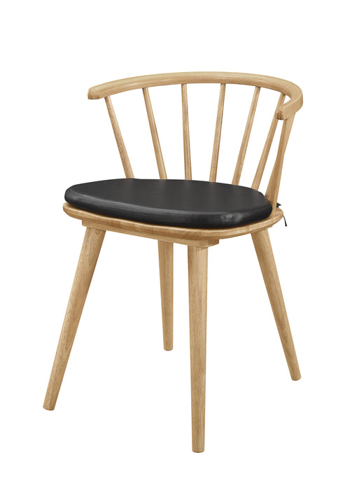 Coaster Merced Natural And Black Wood Finish 2 Piece Dining Chair