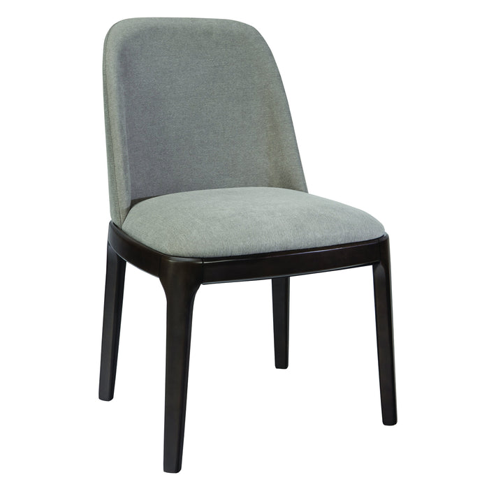 Homy Living Annapolis Gray Fabric And Wood Finish 2 Piece Dining Chair