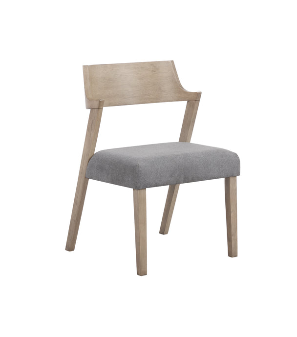 Coaster Artesia Natural And Gray Fabric Finish 2 Piece Dining Chair