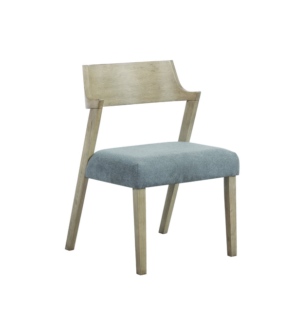 Homy Living Artesia Natural And Gray Fabric Finish 2 Piece Dining Chair