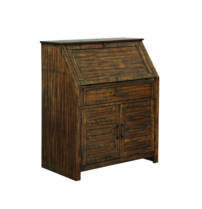 Homy Living Margaret Brown Wood Finish Accent Cabinet
