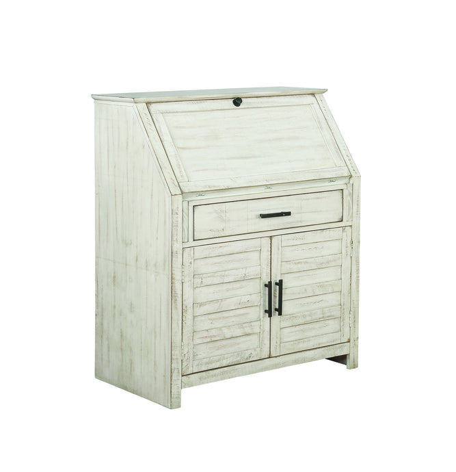 Homy Living Margaret Antique White Wood Finish Accent Cabinet