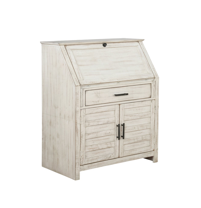 Coaster Margaret Antique White Wood Finish Accent Cabinet