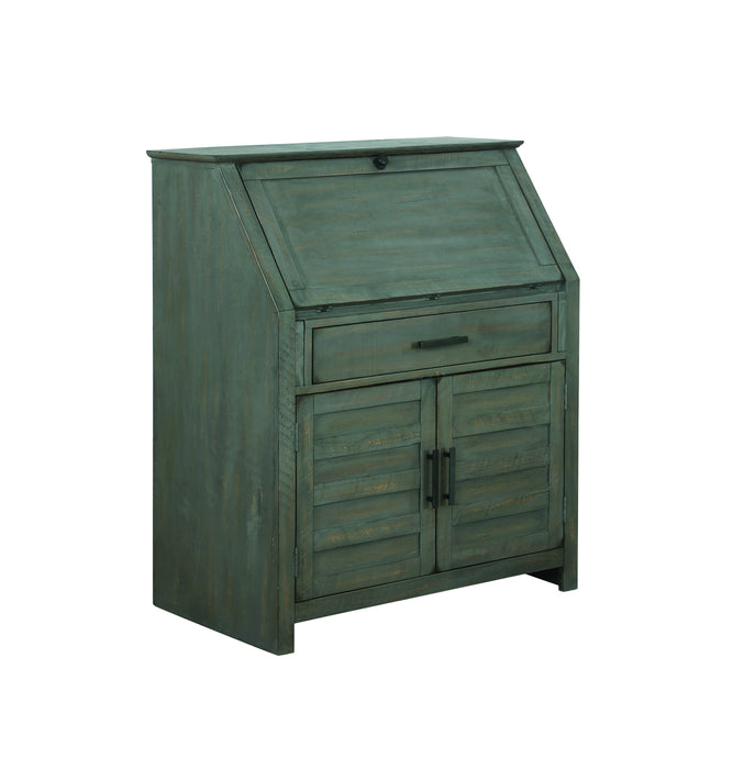 Homy Living Margaret Antique Gray Wood Finish Accent Cabinet