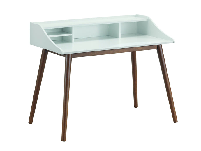 Homy Living Percy White And Walnut Wood Finish Writing Desk