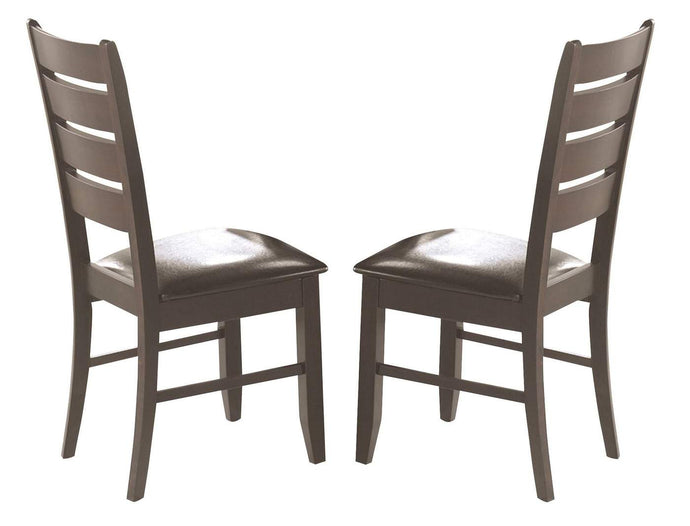 Dalila Cappuccino Slat Back Dining Side Chair
