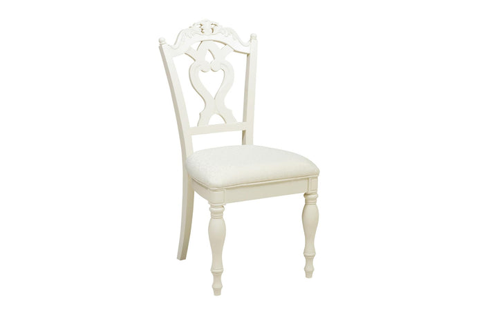 Homelegance Cinderella Ecru White Wood Girls Student Chair