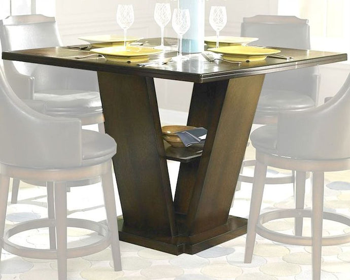 5447-36 Bayshore Causal Burnished Oak Wood Counter Height Dining Table