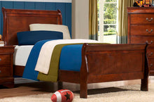 Load image into Gallery viewer, Homelegance 2147T-1 Louis Philippe Brown Cherry Wood Twin Sleigh Bed