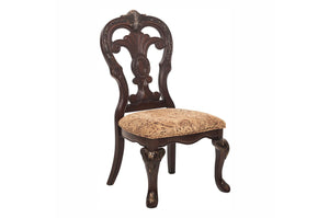 2243S Deryn Park 2PC Traditional Formal Cherry Wood Fabric Side Chairs