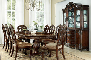 Homelegance Daryl Park Cherry Wood Finish 7 Piece Dining Table Set