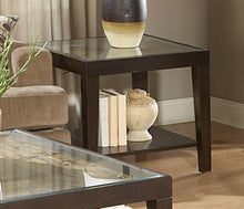 Load image into Gallery viewer, Homelegance Vincent Espresso Wood And Glass Top Finish End Table