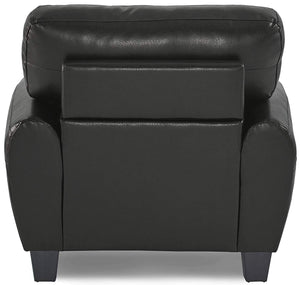 Homelegance Rubin Black Bonded Leather Finish Chair