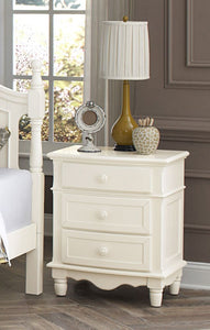 Homelegance Clementine Cottage White Wood Finish Nightstand