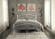 Load image into Gallery viewer, Homelegance Pallina White Metal Finish Full Platform Bed